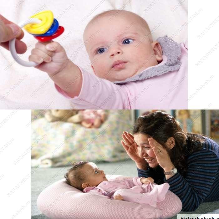 как развивать ребенка в 3 месяца в домашних условиях