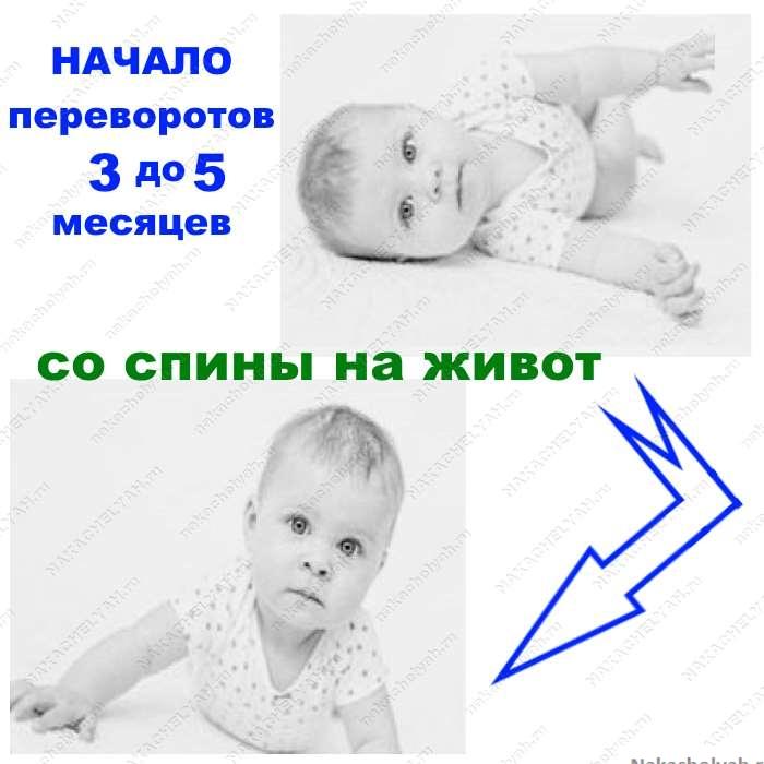 когда ребенок научиться переворачиваться со спины на живот